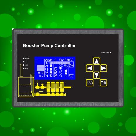 Booster pump controller/ کنترلر بوستر پمپ دور متغییر