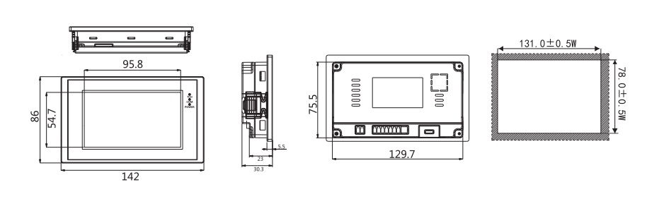 """LEVI2043E inch (4.3)"""""""